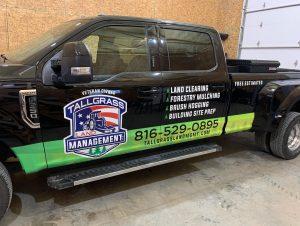 land clearing pick up truck for Tallgrass Land Management LLC